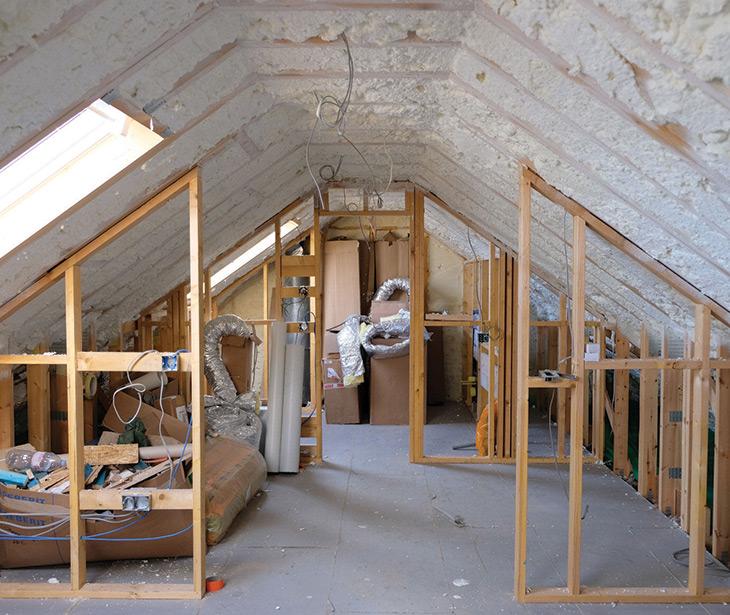 icynene insulation in loft